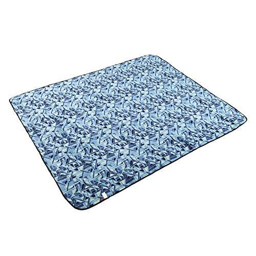Picknickdecke Xxl Picknickdecke Picknickdecke Wasserdicht Picknickdecke 200X200 Wasserdichte Decke Picknickdecke Picknickmatte Im Freien Feuchtigkeitsbeständige Matte Wildlederdruck-Pink Blau 1