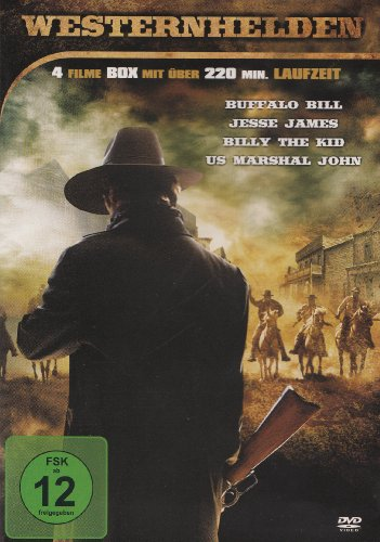 Westernhelden : Buffalo Bill - Jesse James - Billy The Kid - US Marshal John - 4 Filme
