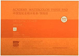 MEEDEN 5X7 Cotton Watercolor Paper Smooth Surface Watercolor Pad, Hot Press, 140lb/300gsm, 20 Sheets