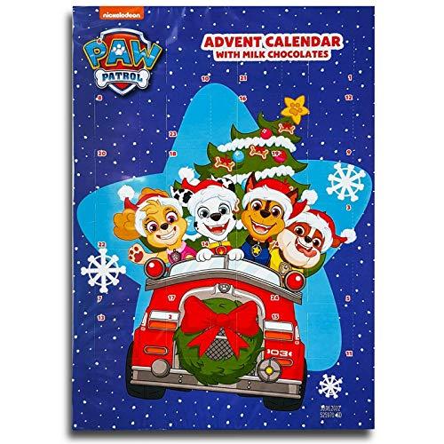 PAW Patrol - BIP Adventskalender mit Schokolade, Schoko Weihnachts Kalender