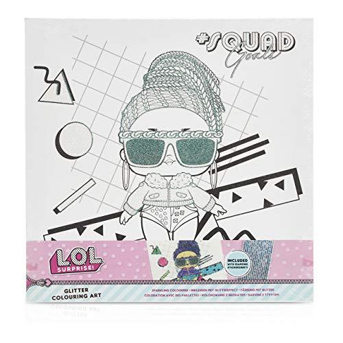 L.O.L. Surprise! Bastelset Kinder   Bastelkoffer für Mädchen mit Malen Segeltuch und Selbstklebende Strasssteine Aufkleber   LOL Puppen Geschenke für Mädchen (Zufällige Auswahl)