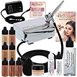 Belloccio Professional Beauty Airbrush Cosmetic Makeup System with 4 Medium Shades of Foundation in...