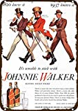 Yilooom 1937 Johnnie Walker Scotch Whisky Vintage-Look Replica Metal Sign 7' x 10'- 1820 to 1937