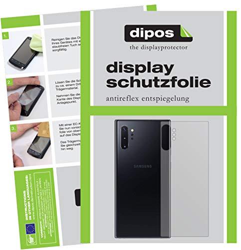 dipos I 2X Protector de Pantalla Mate Compatible con Samsung Galaxy Note 10 Plus Trasero pelicula Protectora