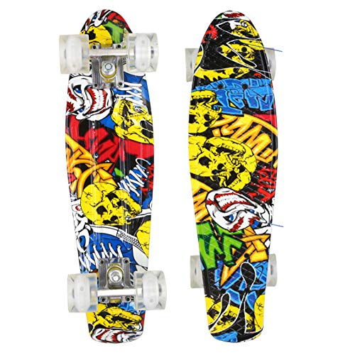 HBHHYRT Cruiser Skateboard 22 Inch Mini Skateboard Completo Tabla De Skate Profesional para Adultos, Adolescentes Y Niños