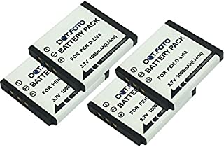 ersetzt Akkutyp D-LI68 Akkuversum Ersatz Akku kompatibel mit PENTAX OPTIO A40 VS20 S12 Q10 Q-S1