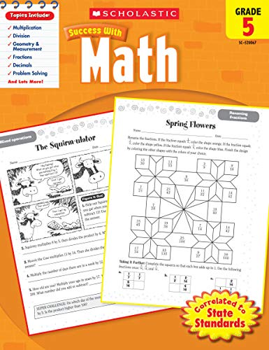 Scholastic Success with Math, Grade 5 (Scholastic Success with Workbooks: Math)