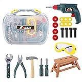 19-teiliges Kinder-Tool-Kit, Kinderspielzeug-Baukasten Spielhaus-simuliertes...