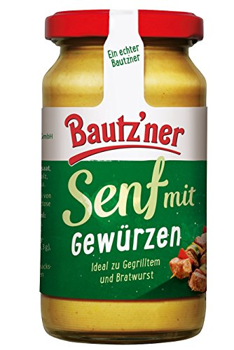 BAUTZ'NER Senf Der Wuerzige, 12er Pack (12 x 200 ml)