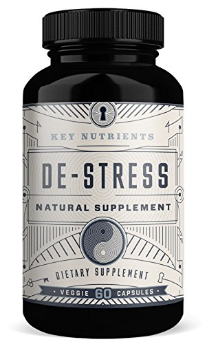 Anxiety & Stress Relief Supplement: DE-Stress Provides Adrenal Support, Relaxation & Anxiety Reduction Contains Magnesium, Ashwagandha, Rhodiola Rosea, 5HTP & More. 60 Veggie Capsules