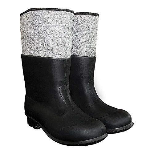 Równosc BF-PCVCZ44-45 Pvc-vilten schoenen, zwart, 44-45 maat