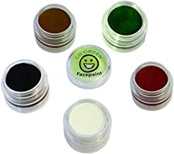 Go Green Face Paint - 5 Color Certified Organic Kit for Kids - The Safest Set for All Skin Types - Resealable and Reusable - for Painting Many Faces During Halloween - 36 Month Shelf Life