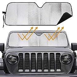 top 10 jeep sun shades Big Cover Windshield Sunscreen for Wrangler Bikon Sahara TJJK JKU2 and 4-door Unit 2007-2020
