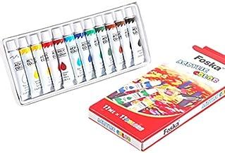 Acrylic Paint Set, 12 Colors x 12 ML, for Children, Art, act.