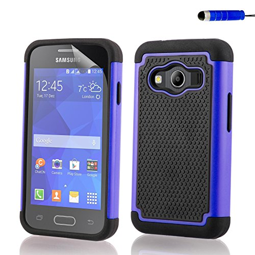32nd Shockproof Series - Custodia Ibrida Anti-Urti per Samsung Galaxy Ace 4 (SM-G357FZ) Massima Protezione da Cadute e Urti Protettiva Case Cover - Blu Scuro