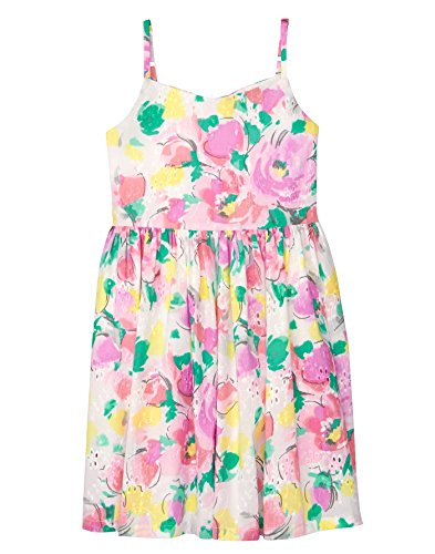 Gymboree Girls' Little Strappy Dress, Watercolor Floral, 8