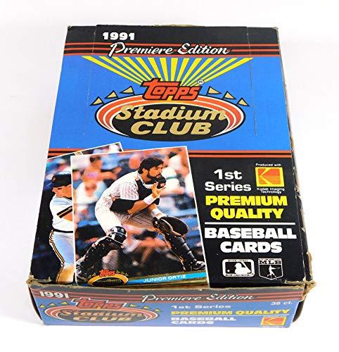 1991 Stadium Club Series 1 Box (36 Packs / 12 Cards per pack - MLB) (PSCC)