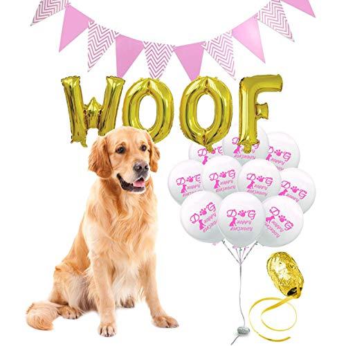 chungeng Kleurrijke WOOF Letter Ballon Combinatie Huisdier Hond Verjaardag Thema Decor Mooie Faddish voor Home Decoration
