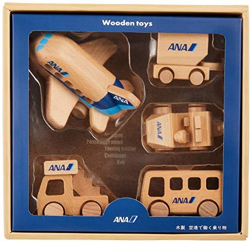 エアプレーングッズ空港で働く乗り物木製ひこうきセットANAMT445