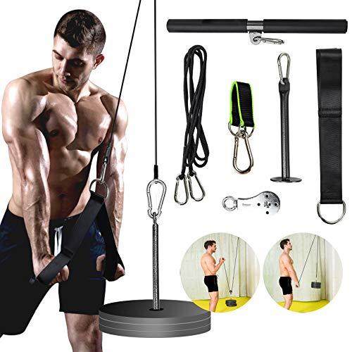 PELLOR Unterarm Handgelenk Trainer, Krafttragende Seilarm Krafttraining, Fitnessgeräte Training vor Arm Schulter Biceps Deltooiden Brust