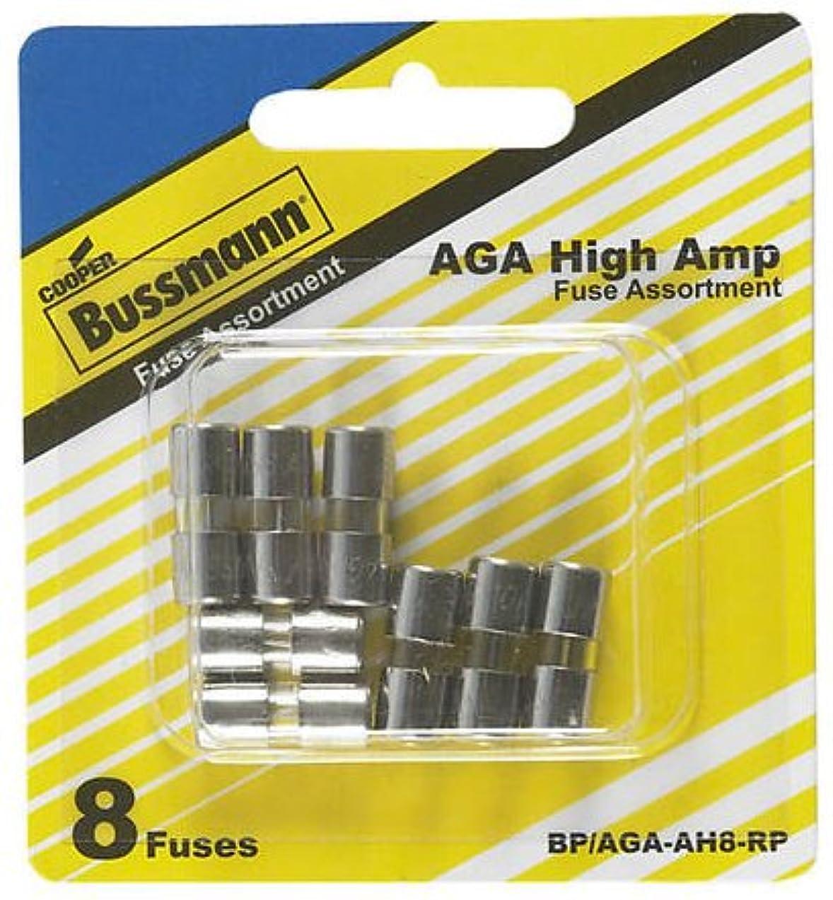 Bussmann BP/AGA-AH8-RP 8 Piece Aga-Xxx High Amp Fuse Assortment (8-Pack),