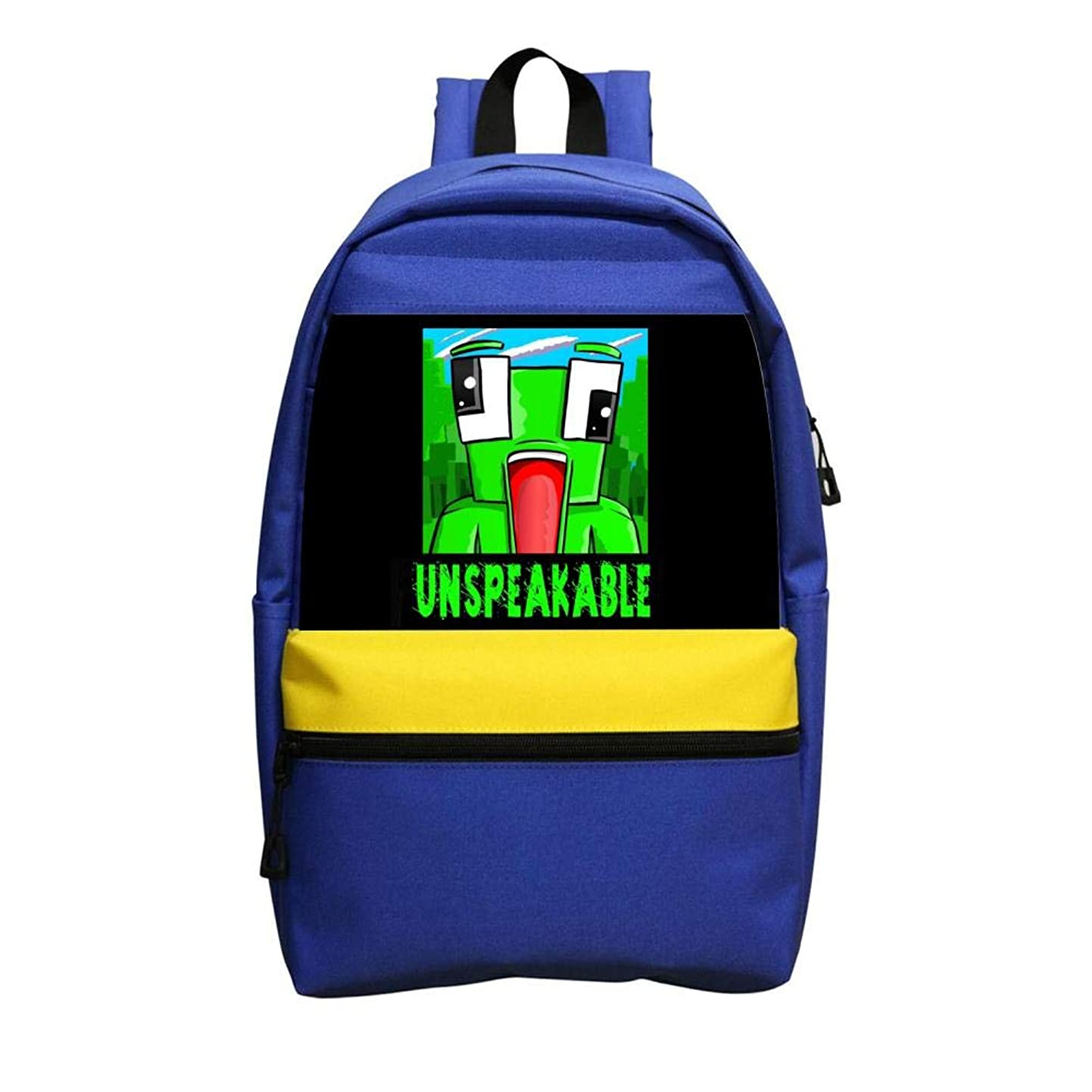 Unspek-Aable Frog Large Capacity Stationery School Backpack Fashion Student Laptop Backpack Blue rhctopjsfke4