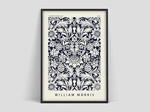 Póster de William Morris, patrón de flores, póster de flores, impresión artística, Willster, Henri Mattion prin Family lienzo sin marco pintura Q-74 30x45cm