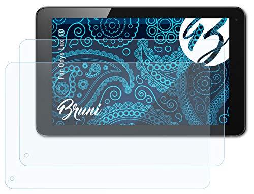 Bruni Schutzfolie kompatibel mit Odys Lux 10 Folie, glasklare Bildschirmschutzfolie (2X)