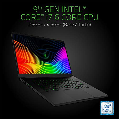 Razer Blade 15 Base Model 2019 (15.6 Zoll Full-HD Display) Gaming Notebook (Intel Core i7-9750H, 16GB RAM, 512GB SSD, NVIDIA GeForce RTX 2060, Win 10, DE-Layout), schwarz