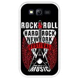Funda Transparente para [ Samsung Galaxy Grand Lite - Grand Neo - Neo Plus ] diseño [ Rock Star - Rock and Roll Vintage Cartel 1 ] Carcasa Silicona Flexible TPU