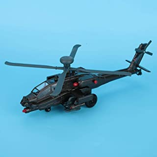 Dilwe 1/64 Children's Armed Helicopter Model Simulation Alloy Aircraft Toy Children's Gift