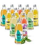 KOMBUCHERY® Bio-Kombucha Mixpaket - Premium Kombucha 12 x 330ml Mit 5 Sorten - Fermentiert, Vegan & Unpasteurisiert - Wenig Zucker & Kalorienarm