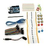 BliliDIY Uno R3 con Mini Kit De Resistencia De Puente Led De Placa De Prueba para Arduino Basic Starter