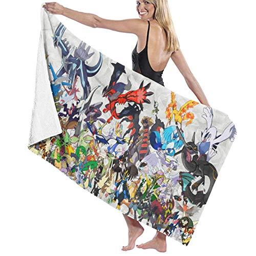 Toallas de playa personalizadas Pokemon para mujeres, niños, niñas y adultos y hombres. Nombre personalizado toalla de playa regalos de verano