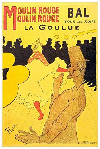 ArtPlaza Toulouse-Lautrec-Moulin Rouge la Goulue Panel Decorativo, Madera MDF, Multicolor, 60x90 Cm