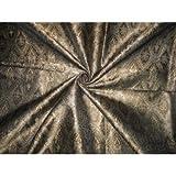 Seide Brokat Stoff braun, beige & schwarz 111,8cm by the