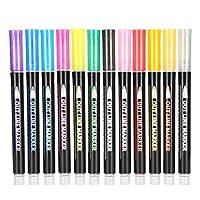 DIY ダブルラインペン 12 色 ダブルラインペン ダブルラインペン 12 色用グリーティングカード DIY(12 color double line pen set, Polar Animals)