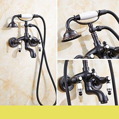 Lvsede Bad Wasserhahn Design Küchenarmatur Niederdruck Duscharmatur Set Vollkupfer Craft In-Wall Badewannenarmatur SetA