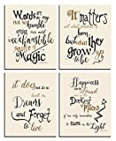 Wizard Art - Quotes and Sayings Art Prints   Set of Four Photos 8x10 Unframed   Unique Inspirational Wall Art - Great Gift for Wizarding World Fans