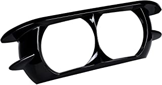 Glossy Black Dual Projector Headlamp Headlight Trim Cover Bezel Compatible with 2015-2019 Harley Davidson Road Glide