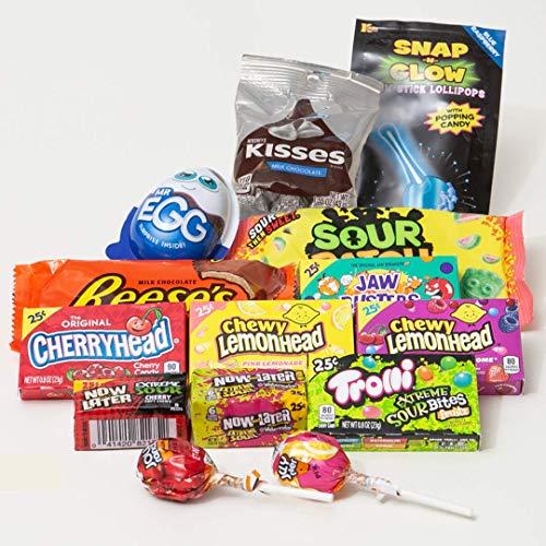Süßigkeiten Box aus Amerika   14 beliebten Süßigkeiten aus den USA   Süßes & Saures   Geschenkidee für Weihnachten und Geburtstage