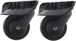 D Dolity 2 Pieces 360 Swivel Luggage Mute Suitcase Replacement Wheels A38