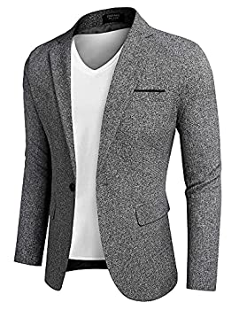 COOFANDY Mens Casual Business Blazer Lightweight Modern Button Sportcoats Autumn