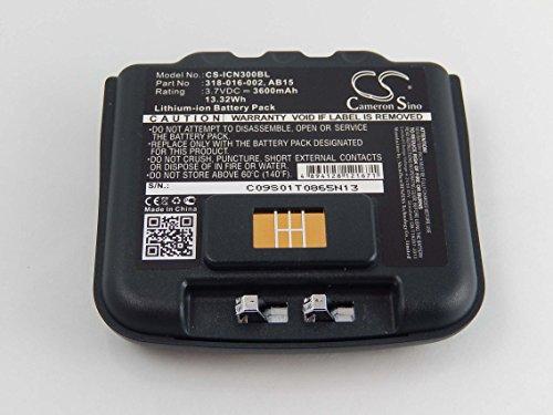 vhbw Li-Ion battery 3600mAh (3.7V) for barcode scanner Intermec CN3, CN3E,...