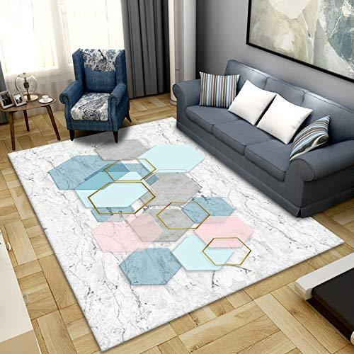 Alfombra de área para sala de estar, mullida y suave, apta para dormitorio, cuarto de bebé, 160 x 230 cm