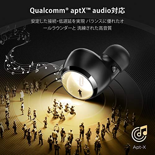TaoTronics ワイヤレスイヤホン apt-X AAC対応/Type-C充電対応 / イヤホン単体9時間再生 / 合計36時間再生 / 快適な装着感 / IPX8防水 Bluetooth5.0 フルワイヤレス イヤホン 自動ペアリング SoundLiberty 97 (ブラック)