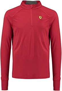 Scuderia Ferrari Formula 1 Men's Red Long Sleeve 1/2 Zip Midlayer Shirt