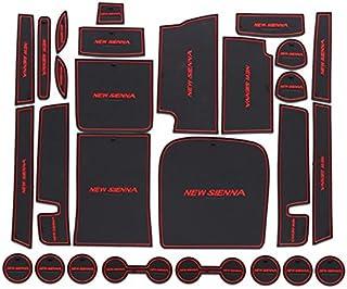 Accesorios para coche Alfombrillas antideslizantes Hireno Posavasos Antideslizante Estera de la Taza de la Copa Retenedores de Puertas Lateral Mats Set para Carens 2013