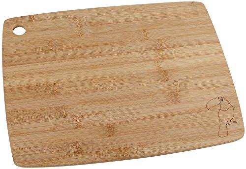 Fackelmann Tabla de Cortar Cocina Madera bambú pequeña para Picar Verduras, trocear y filetear Carne o Pescado, 38x29cm, Marrón, 38 x 29 x 1 cm