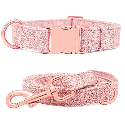 Collar de Perro y Correa Durable Hemp Collares DE ID de Pet de la Cuerda de Plomo Pequeños Perros Grandes medianos